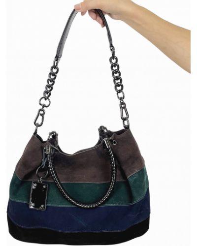 Замшевая сумка через плечо Polina & Eiterou