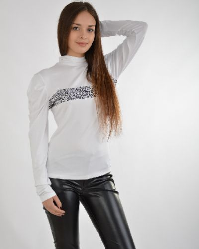 Блузка шелковая белая Sassofono