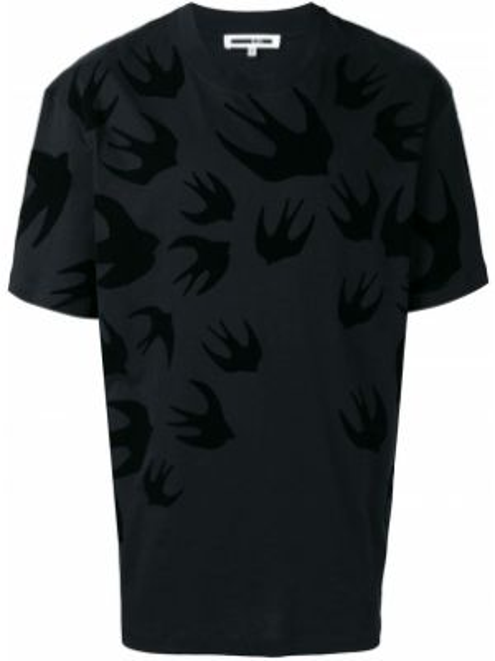 Koszula krótkie z krótkim rękawem prosto z nadrukiem Mcq Alexander Mcqueen
