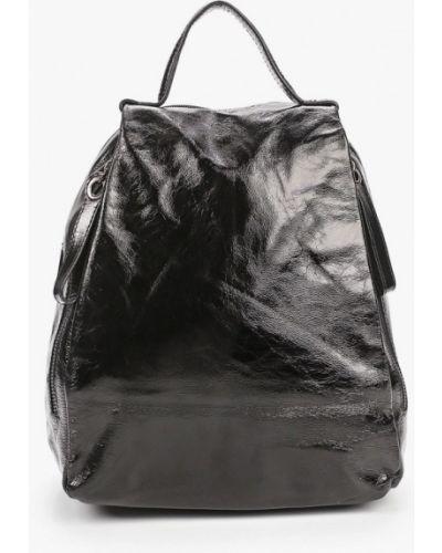 Городской черный рюкзак из натуральной кожи Valensiy
