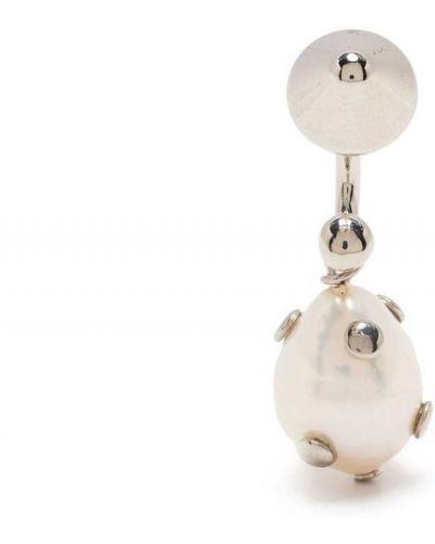 Kolczyki srebrne perły Saf Safu