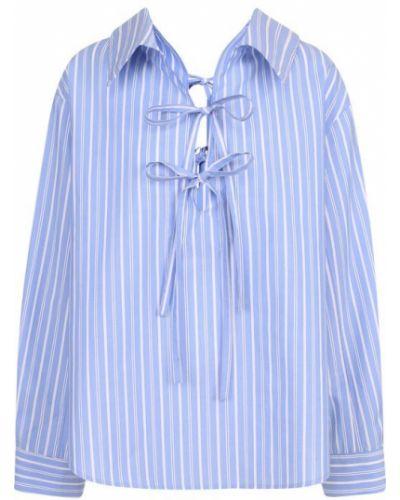 Блузка в полоску синяя Clu