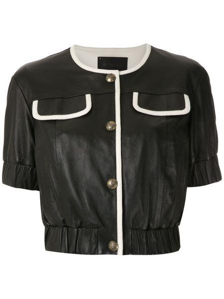 Блузка с коротким рукавом на резинке батник Andrea Bogosian