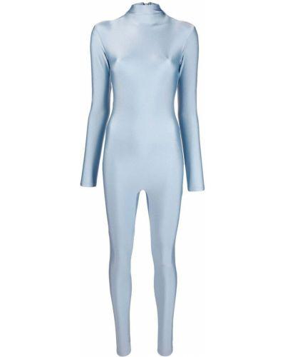 Серебряный облегающий комбинезон на молнии Atu Body Couture