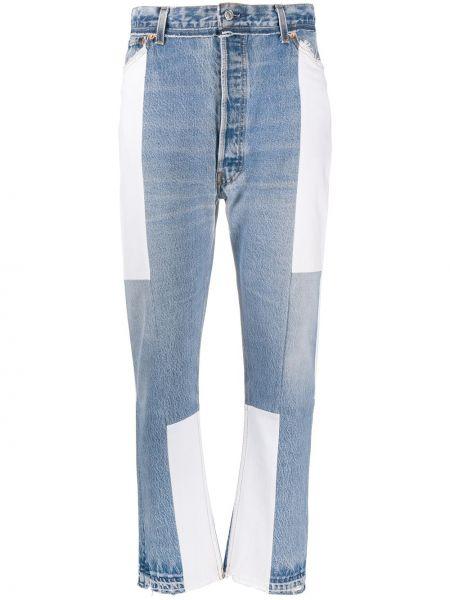 Bawełna biały jeansy na wysokości z kieszeniami wysoki wzrost Re/done