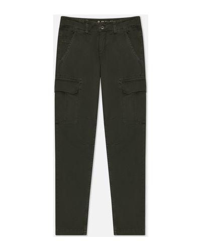 Хлопковые прямые серые брюки карго Alpha Industries