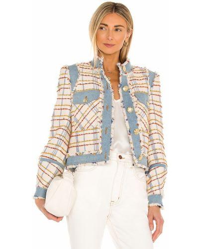 Синяя джинсовая куртка твидовая на кнопках Veronica Beard