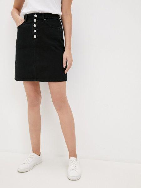 Джинсовая юбка весенняя черная Zarina