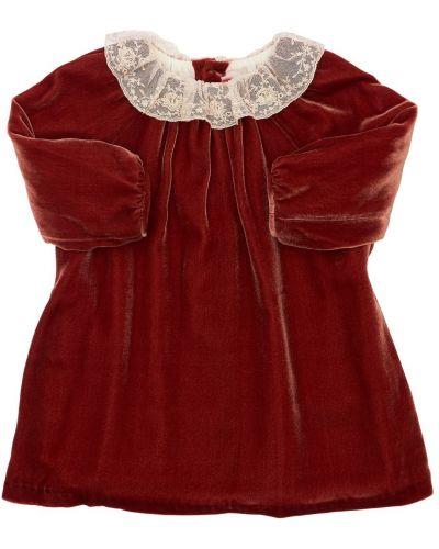 Платье с вышивкой - коричневое Bonpoint