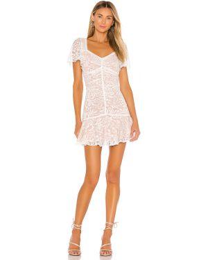 Sukienka mini z suwakiem z guzikami Astr The Label