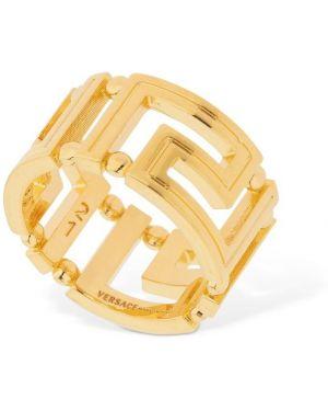 Pierścień ze złota metal Versace