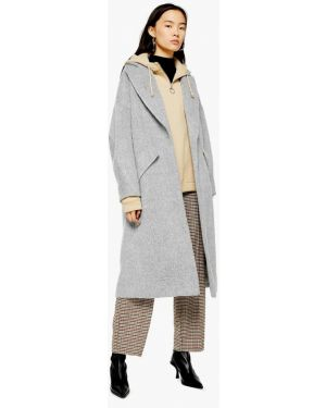 Пальто демисезонное серое Topshop