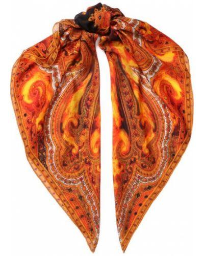 Оранжевый платок из шелка Givenchy