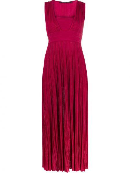 Różowa sukienka rozkloszowana z wiskozy Antonino Valenti