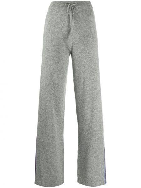 Шерстяные серые прямые спортивные брюки с карманами Chinti & Parker