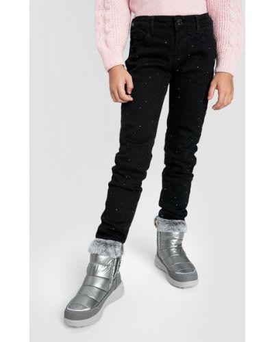 Классические черные джинсы с подкладкой со стразами Ostin