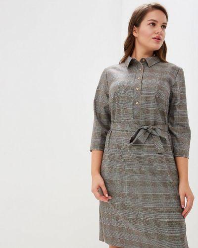 Платье серое осеннее Max&style