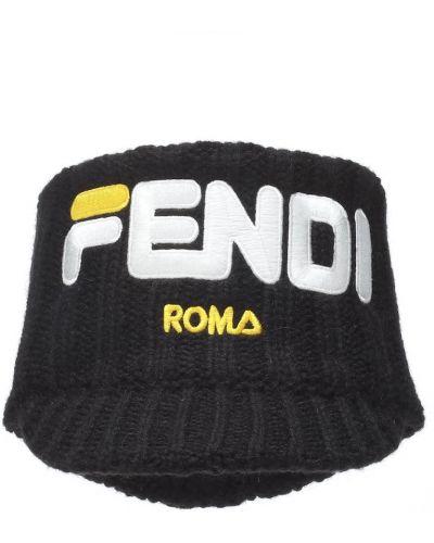 Ободок черный на голову Fendi