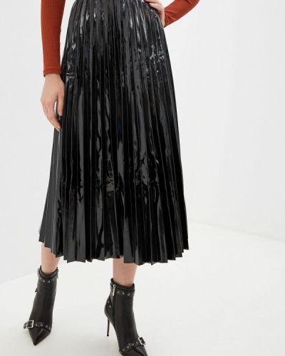 Джинсовая юбка кожаная черная Guess Jeans