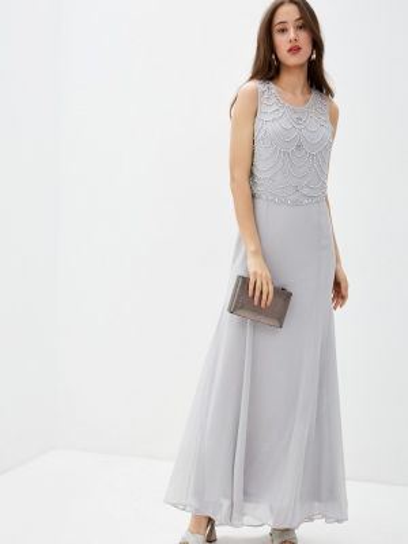 Серое вечернее платье Goddiva