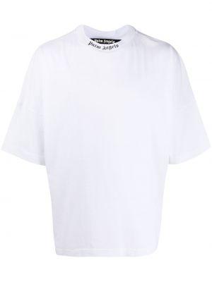 Koszula krótkie z krótkim rękawem z logo prosto Palm Angels