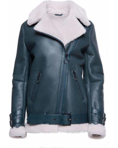 Куртка-пилот из овчины - зеленая Rozetka
