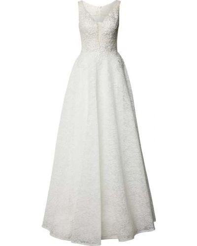 Biała sukienka z dekoltem w serek Mascara