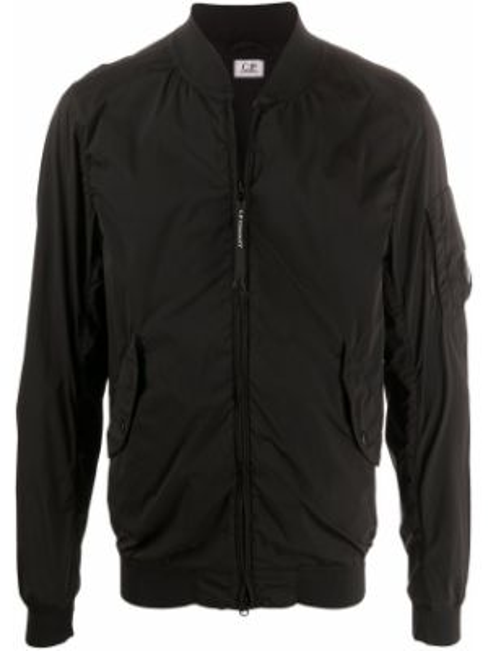 Длинная куртка черная с манжетами Cp Company Kids