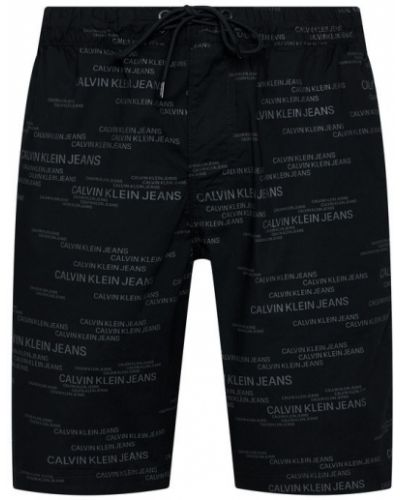 Czarne szorty jeansowe Calvin Klein Jeans
