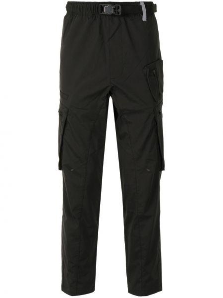 Spodni czarny bojówki z klamrą z kieszeniami Aape By A Bathing Ape
