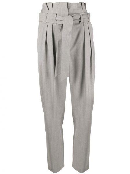 Укороченные брюки с завышенной талией серые Iro