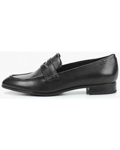 Лоферы на каблуке черные Vagabond