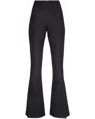 Расклешенные черные брюки узкого кроя A.w.a.k.e.