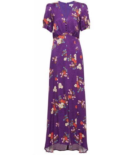 Фиолетовое платье макси из вискозы с подкладкой Paul & Joe
