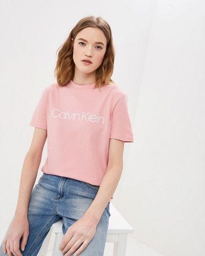 Розовая футболка 2019 Calvin Klein