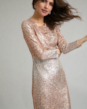 Вечернее платье миди с пайетками Emka