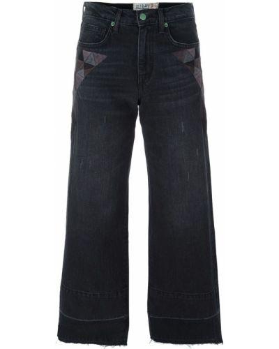 Укороченные джинсы черные жёлтые Sandrine Rose