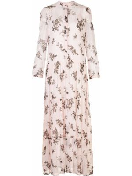 Платье макси с цветочным принтом на пуговицах Baum Und Pferdgarten