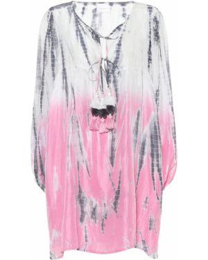 Теплое платье розовое с завышенной талией Anna Kosturova