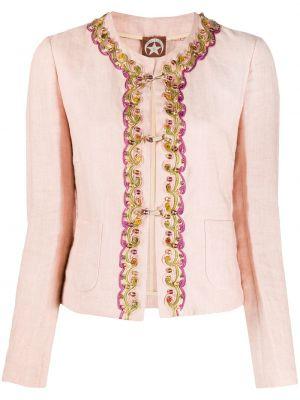 Розовый пиджак с вышивкой винтажный A.n.g.e.l.o. Vintage Cult