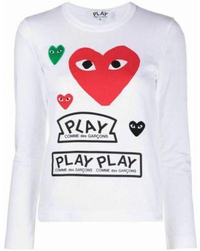 T-shirt - biała Comme Des Garcons Play