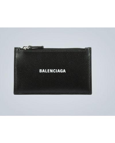Черная кожаная ключница со шлицей Balenciaga