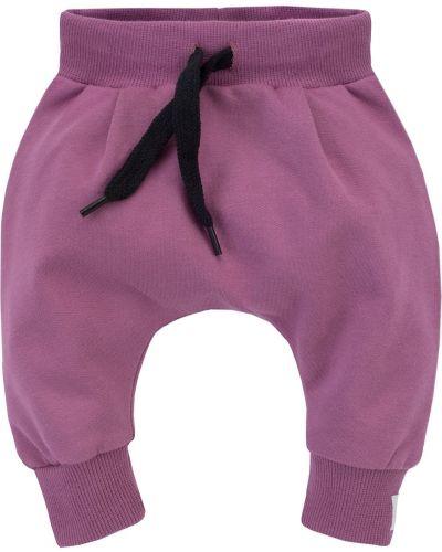 Różowe joggery materiałowe Pinokio
