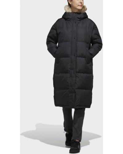 Пуховик длинный пальто пуховый Adidas