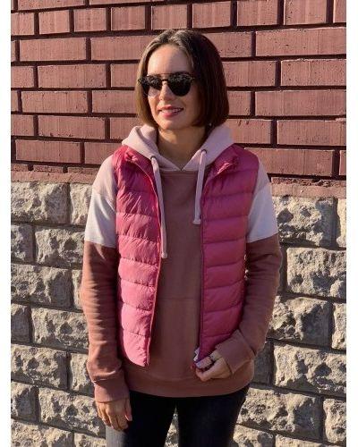 Пуховая жилетка - розовая Uniqlo