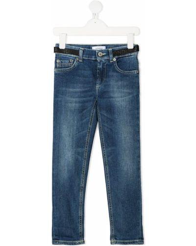 Классические синие джинсы классические стрейч с пряжкой Dondup Kids