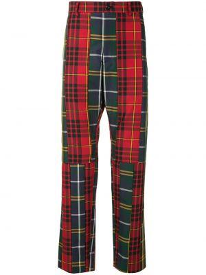 Zielone spodnie z wysokim stanem z paskiem Comme Des Garcons Homme Plus