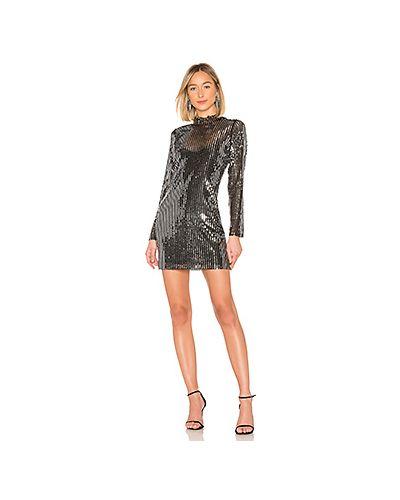 Вечернее платье с пайетками мини Tanya Taylor