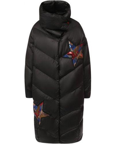Куртка черная с перьями Odri