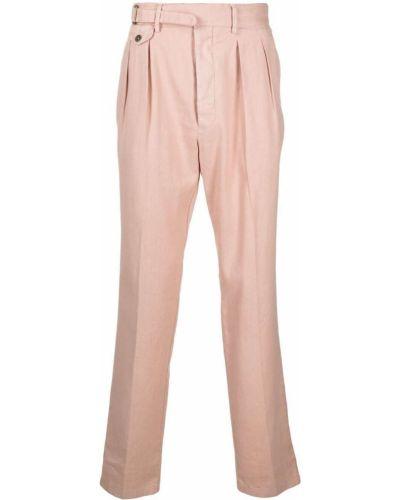 Różowe spodnie bawełniane klamry Lardini